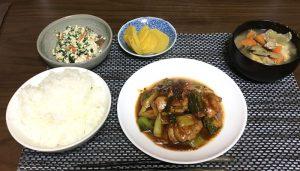 今日のボッチ飯 鳥モモと長ネギのスタミナ炒め