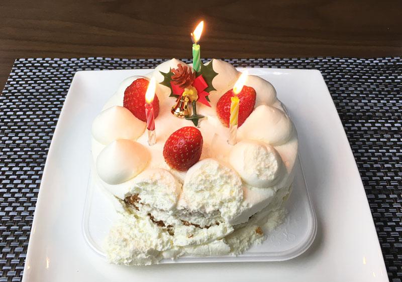 ローソン 生ケーキ4号とローソク