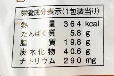 ヤマザキパン パンオポム 栄養成分表