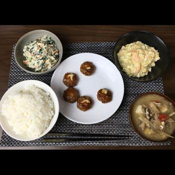 今日のボッチ飯 海老とブロッコリーのサラダ