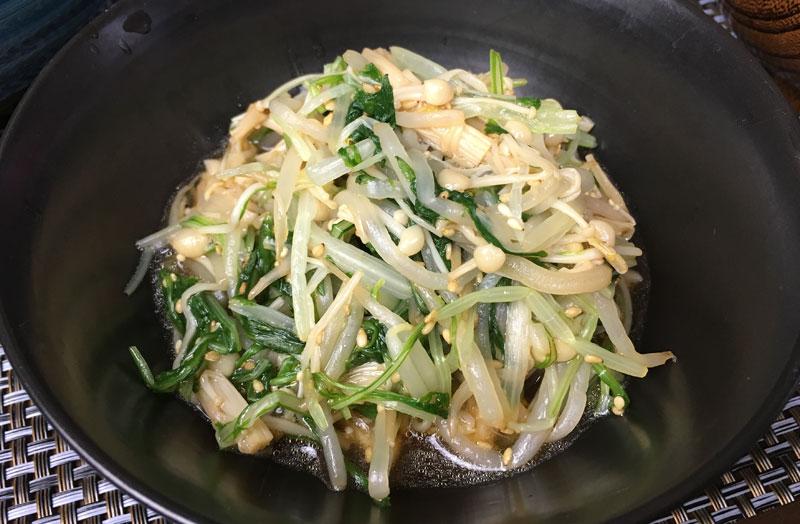 モヤシと水菜のナムル