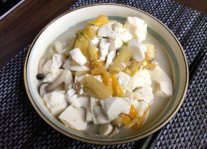 豆腐と豚バラ白菜のゴマ豆乳うどん