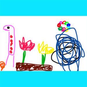 こどもアート 4歳 女の子 再現