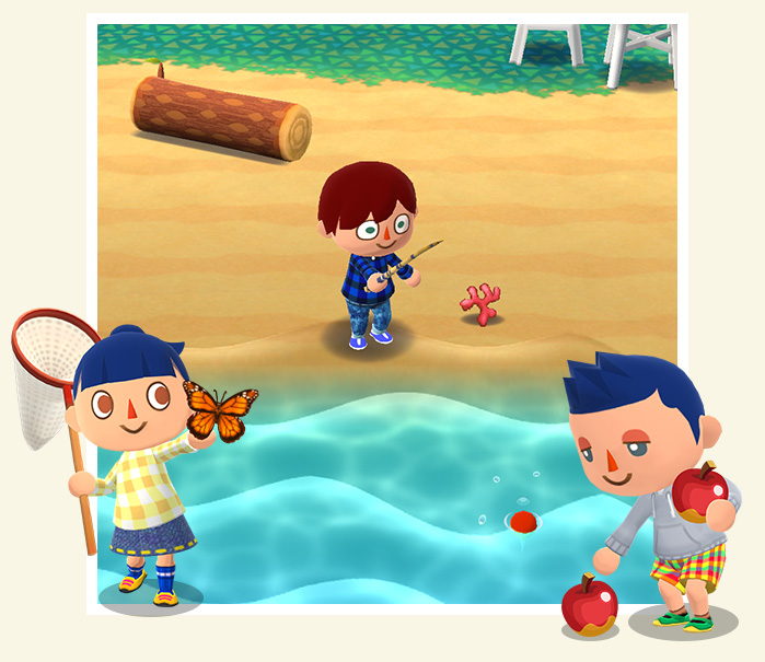 どうぶつの森 新作スマホアプリ 魚釣り