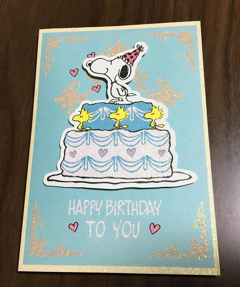 スヌーピーの誕生日カード
