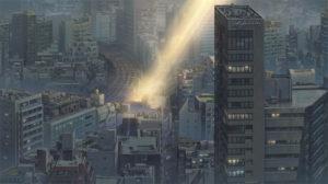 天気の子 背景作画 参考画像 ビル群
